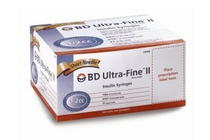 BD Ultra-FineII Short Needle 1/2cc Insulin Syringe