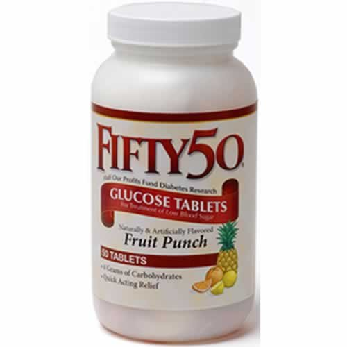Buy FIFTY 50 Chewable Glucose Tablets Fruit Punch buy one get one free