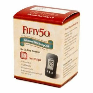 Buy FIFTY 50 Glucose Test Strips 2.0 for diabetes blood testing