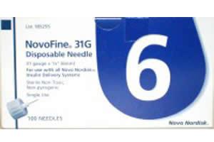 NovoFine 31 gauge Pen Needles