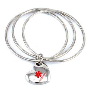 Stainless Steel Bangle Charm Bracelet