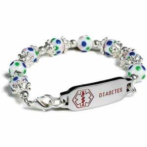 Buy This Multi-colored Beads Diabetes Medical ID Bracelet