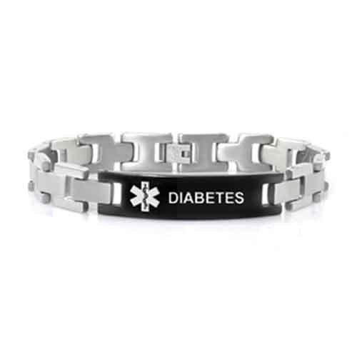 Buy this Stainless Steel Link Diabetes Medical Alert ID Bracelet