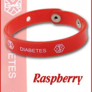 Raspberry diabetes jelly band