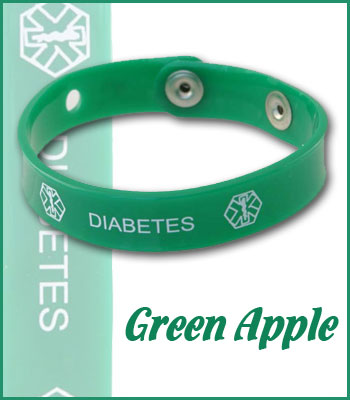 green apple diabetes jelly band