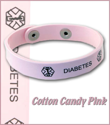 cotton candy pink diabetes jelly band