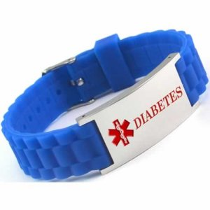 Buy this Blue Diabetes Silicone Medical ID Bracelet