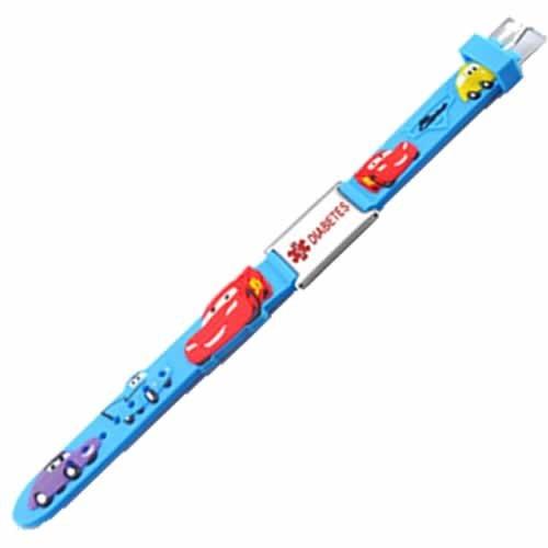 Buy this PVC Blue Cars Diabetes Medical Alert ID Bracelet