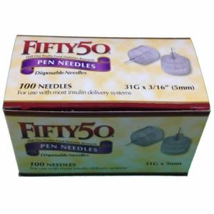 FIFTY 50 Pen Needles 31G 5mm insulin injections