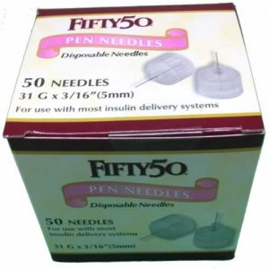 Buy FIFTY 50 Pen Needles 31G 5mm insulin injections