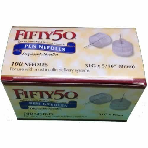 FIFTY 50 Pen Needles 31G 8mm insulin injection