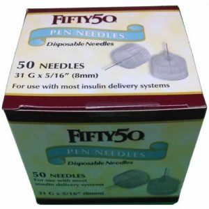 FIFTY 50 Pen Needles 31G 8mm insulin injections