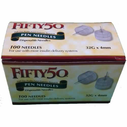 Buy FIFTY 50 Pen Needles 32G 4mm insulin injections