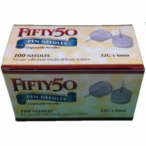 Buy FIFTY 50 Pen Needles 32G 6mm insulin injection