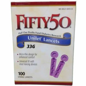 FIFTY 50 Lancets for testing blood glucose