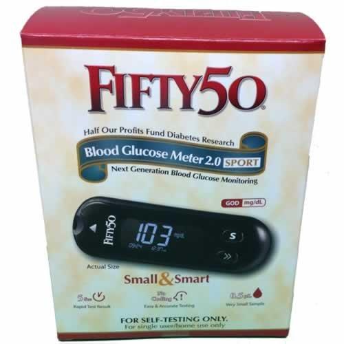 FIFTY 50 SPORT Blood Glucose Meter 2.0 diabetes testing supplies